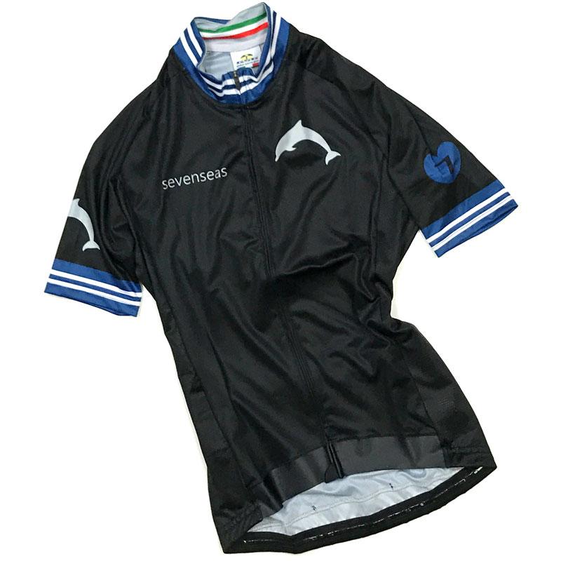 セブンイタリア Sevenseas レディース Jersey ブラック