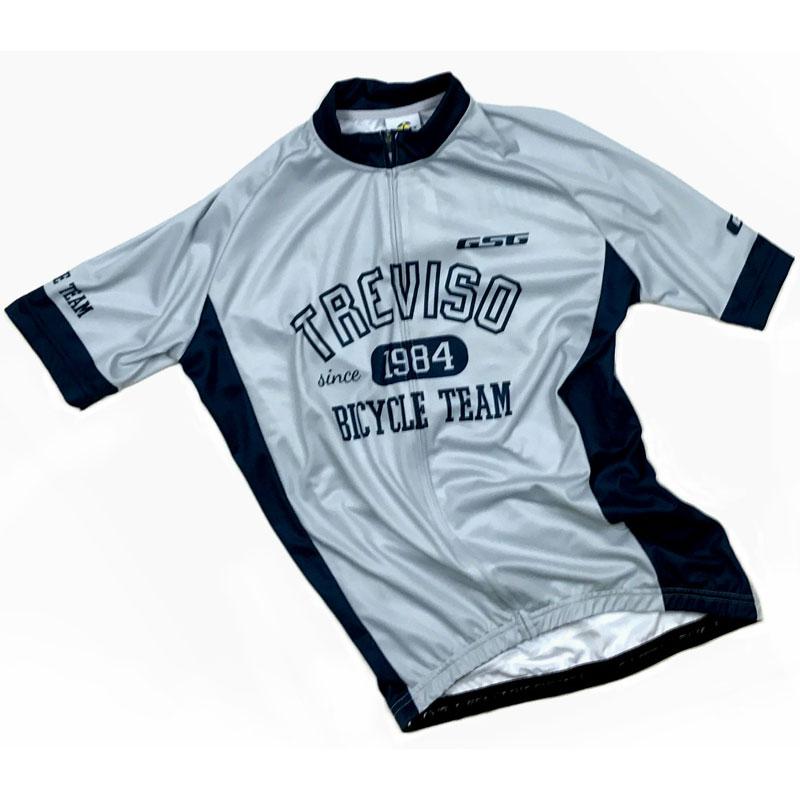GSG Treviso Bike Team Jersey グレー/ブルー ワイドフィット仕様