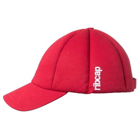 リブキャップ Baseball Cap レッド カジュアルヘルメット