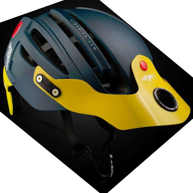 アージュ Endur-o-Matic 2 (フレックスバイザー) マットネイビー/イエローバイザー ヘルメット