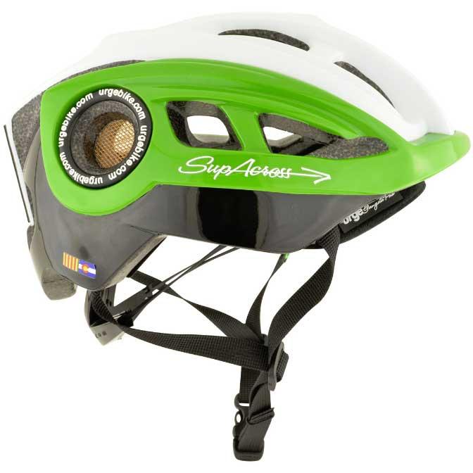 【現品特価】アージュ SupAcross(スパクロス) グリーン/ホワイト ヘルメット