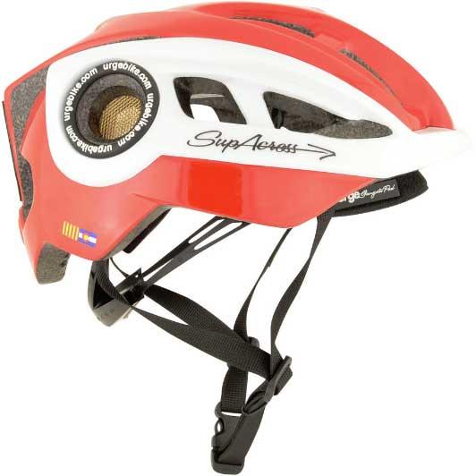 【現品特価】アージュ SupAcross(スパクロス) レッド/ホワイト ヘルメット
