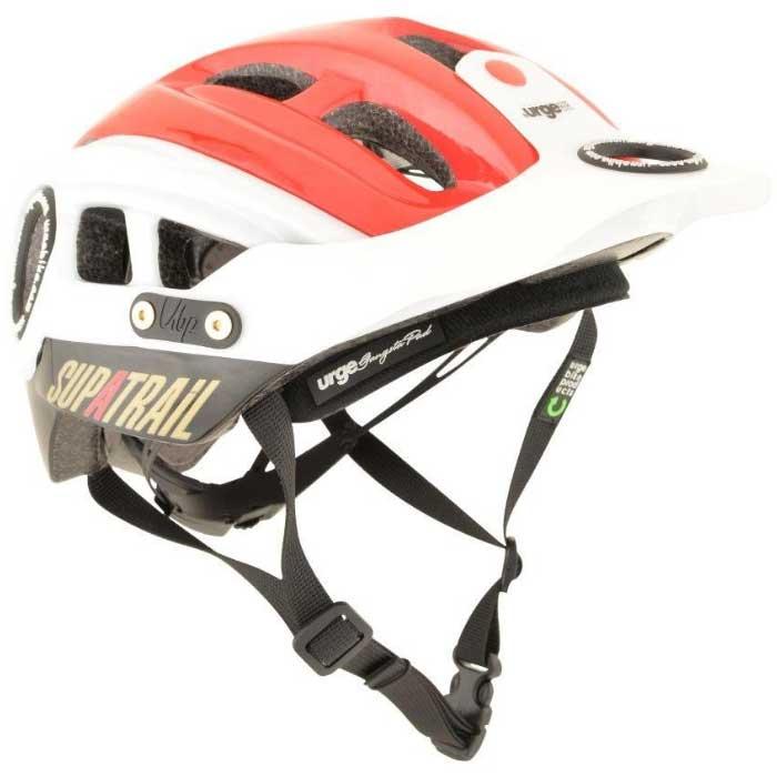 【現品特価】アージュ SupAtrail(スパトレイル) バイザー付 レッド ヘルメット