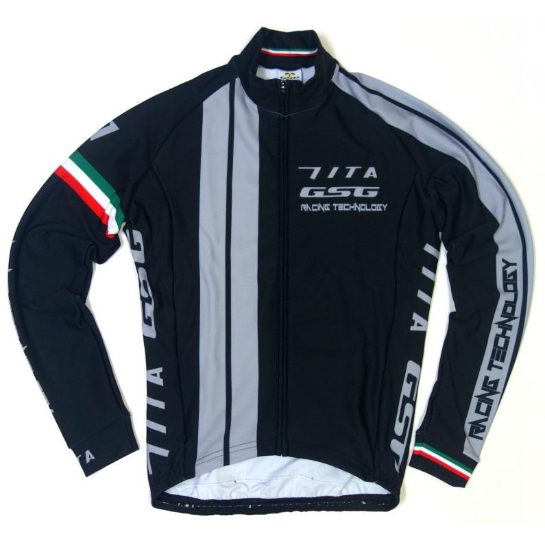 セブンイタリア GT-7 LS Jersey ブラック/グレー
