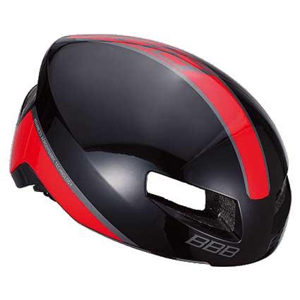 BBB ティトノス V2 BHE-08 グロッシーブラック/レッド ヘルメット