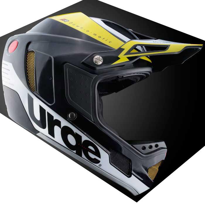 アージュ Down-O-Matic RR(ダウン オ マティック RR) ブラック/イエロー ヘルメット