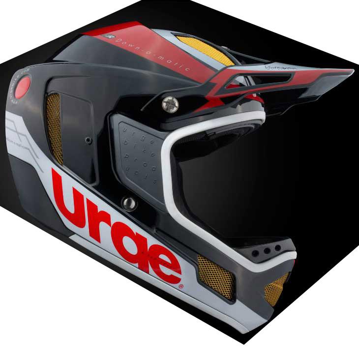 アージュ Down-O-Matic RR(ダウン オ マティック RR) レッド/ホワイト ヘルメット