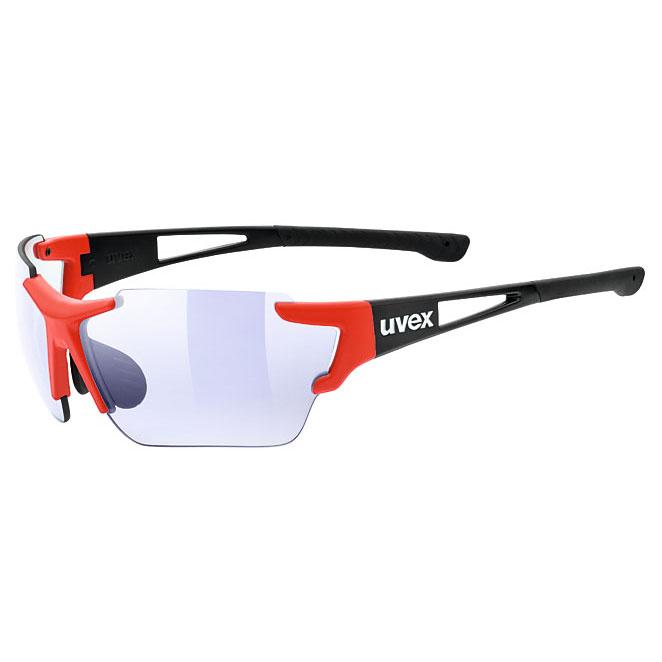ウベックス スポーツスタイル 803 race vm ブラックレッドマット サングラス(調光レンズ)