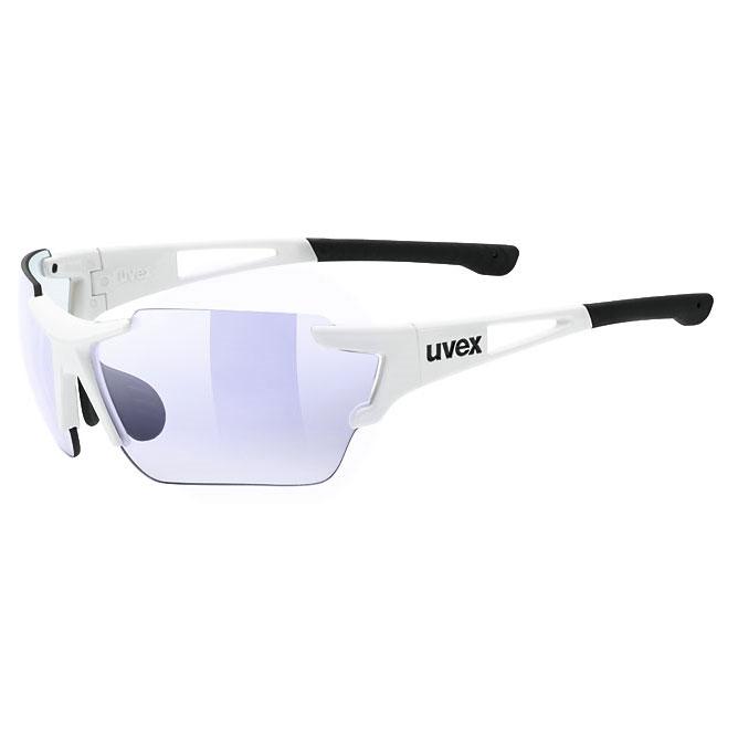 ウベックス スポーツスタイル 803 race vm ホワイト サングラス(調光レンズ)