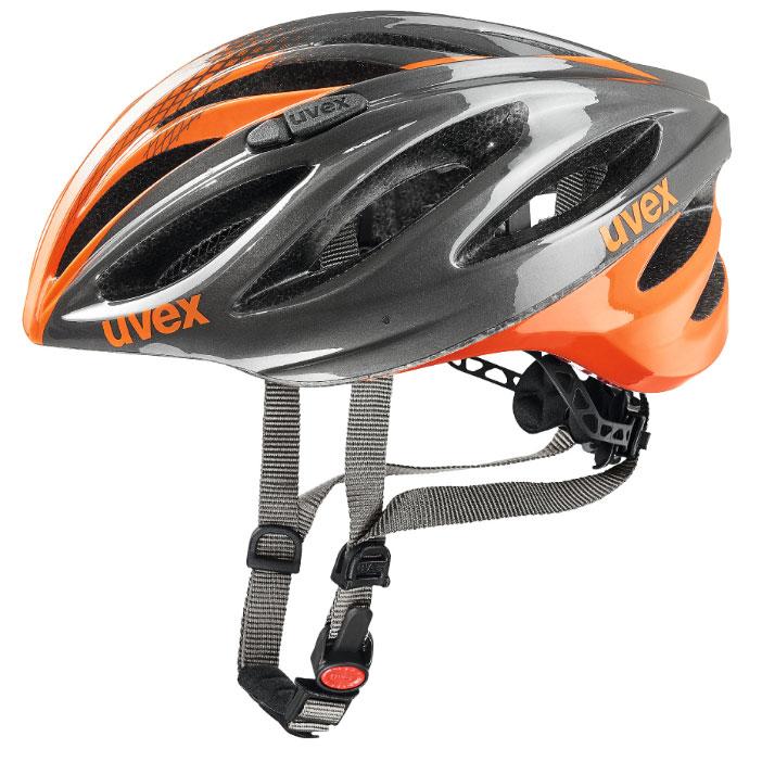 ウベックス BOSS RACE グレイ/ネオンオレンジ ヘルメット