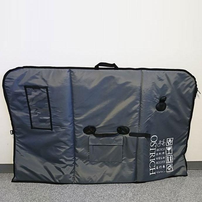 【特急】【輪行マニュアルプレゼント】オーストリッチ OS-500 トラベルバッグ グレー