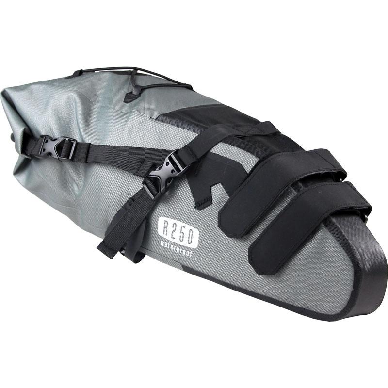 【特急】R250 防水サドルバッグ ラージ グレー