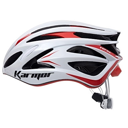 【急行】カーマー FEROX2(フェロックス2) ホワイト/レッド ヘルメット Boaシステム搭載 Karmor