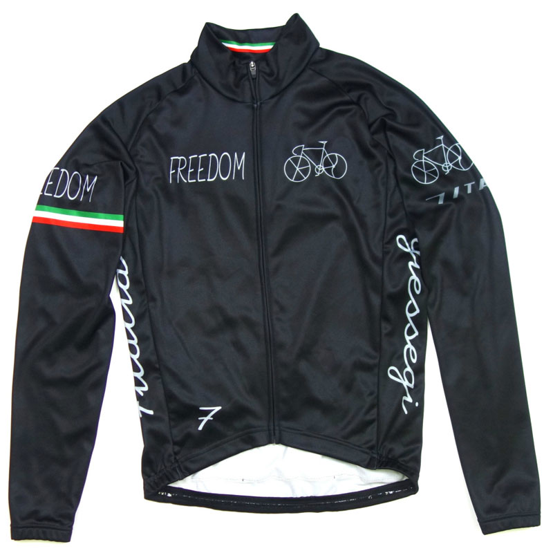 セブンイタリア Freedom Bicycle LS Jersey Black