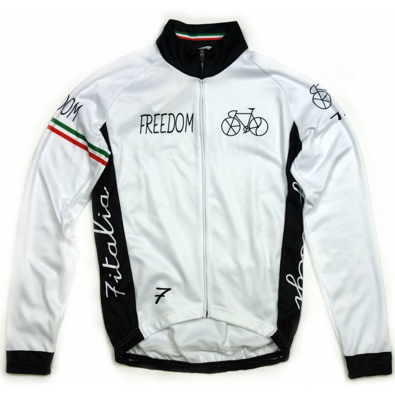 セブンイタリア Freedom Bicycle LS Jersey White