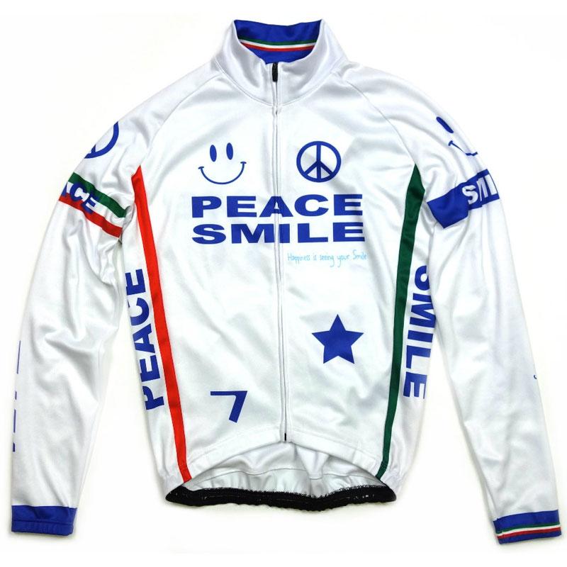 セブンイタリア Peace&Smile LS Jersey White