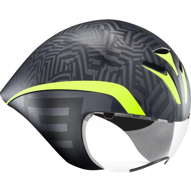メット ドローンHES テクスチャーブラックグリーン ヘルメット
