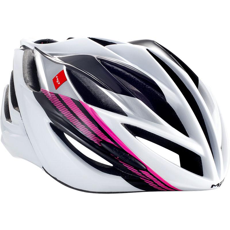メット フォルテ ブラックホワイトピンク ヘルメット