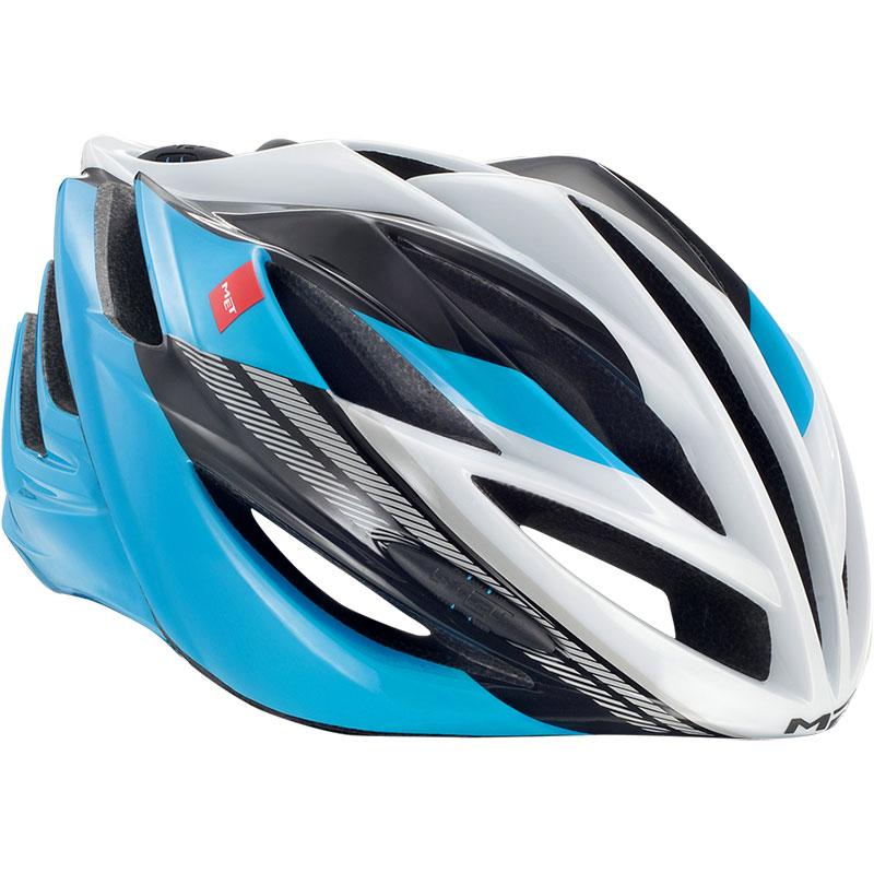 メット フォルテ シアンブラックホワイト ヘルメット