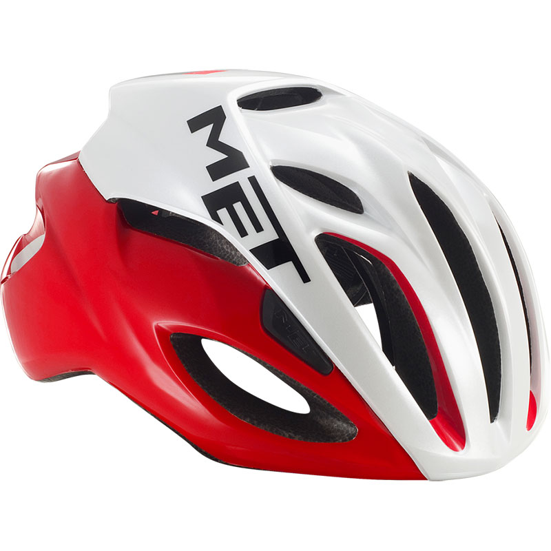 メット リヴァーレHES レッドホワイト ヘルメット