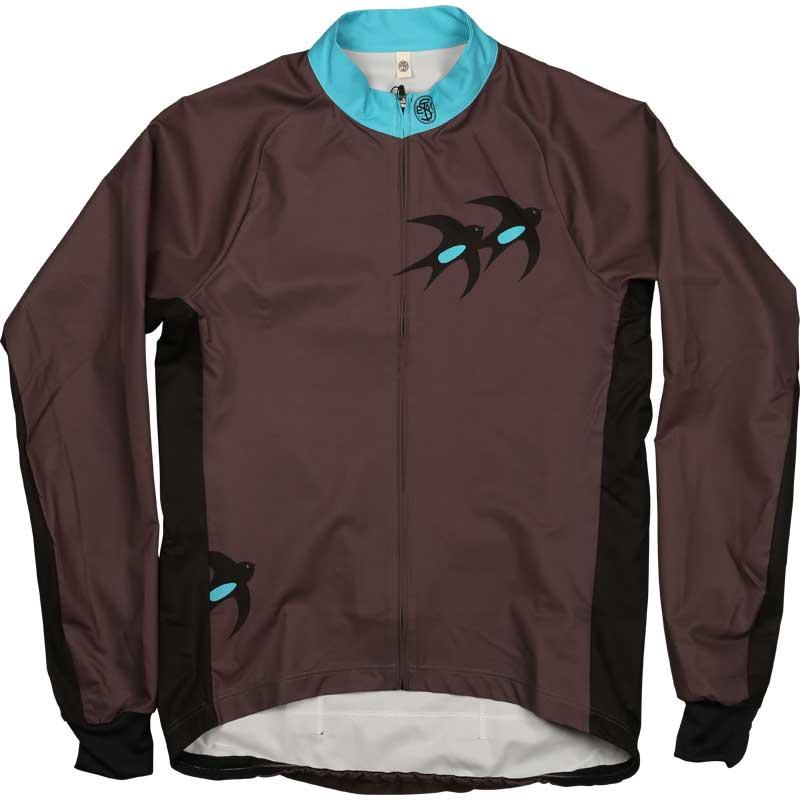 ステムデザイン サイクルライトシェル ジャケット (バードプリント) グレー