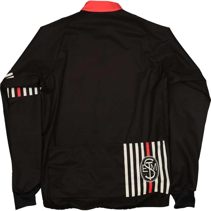 ステムデザイン サイクルライトシェル ジャケット (ストライププリント) ブラック