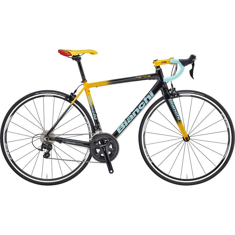 【送料無料】【代引不可】18ビアンキ FENICE PRO SHIMANO 105 Black/Yellow