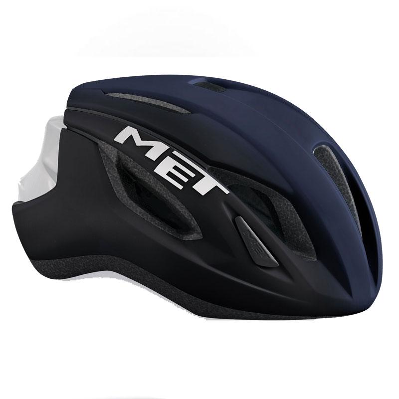 メット ストラーレ ブルー×ホワイト ヘルメット