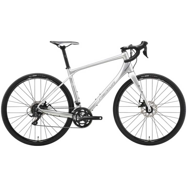 【代引不可】18メリダ SILEX 200 マットシルバー(ホワイト)【自転車】【ロードレーサー】