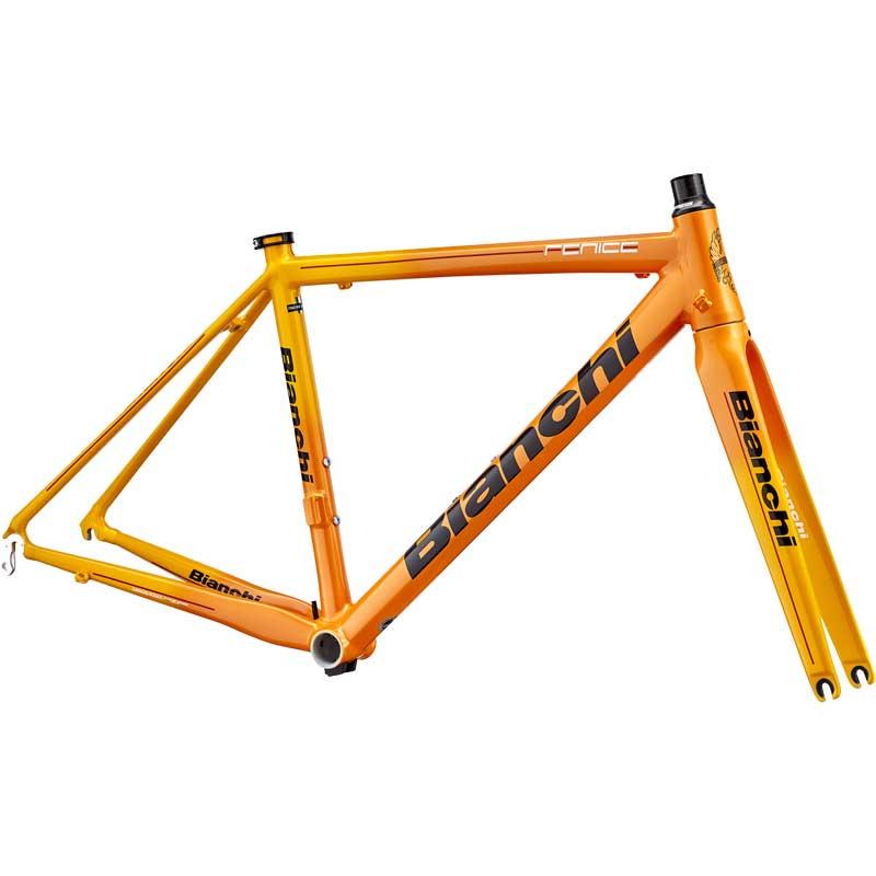 【現品特価】18ビアンキ FENICE PRO FRAME&FORK Orange/Yellow レパルトコルサ