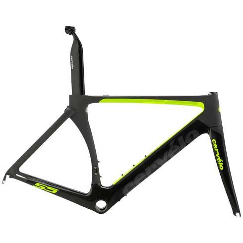 18サーベロ S5 ブラック/グリーン フレームセット【自転車】【ロードレーサーパーツ】