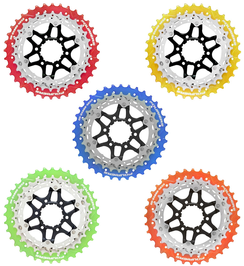 フォーリアーズ ROAD スプロケットセット (CR-DX008-SKX3) 【自転車】【ロードレーサーパーツ】