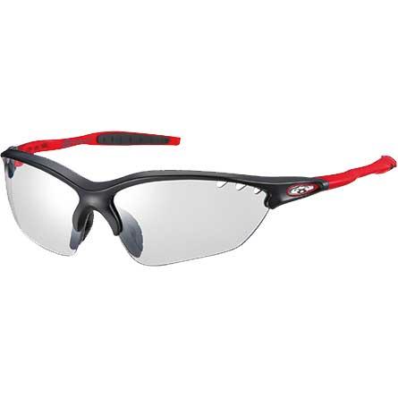 OGKカブト ビナートX フォトクロミック マットブラックレッド/クリア調光レンズ アイウェア