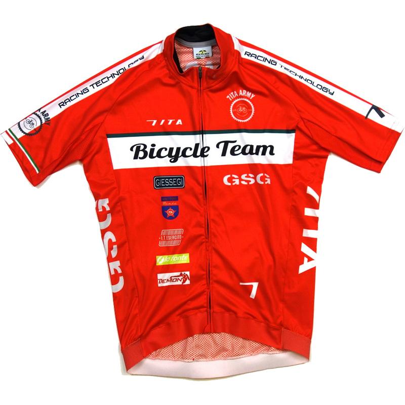 セブンイタリア Army Bike Team Jersey レッド