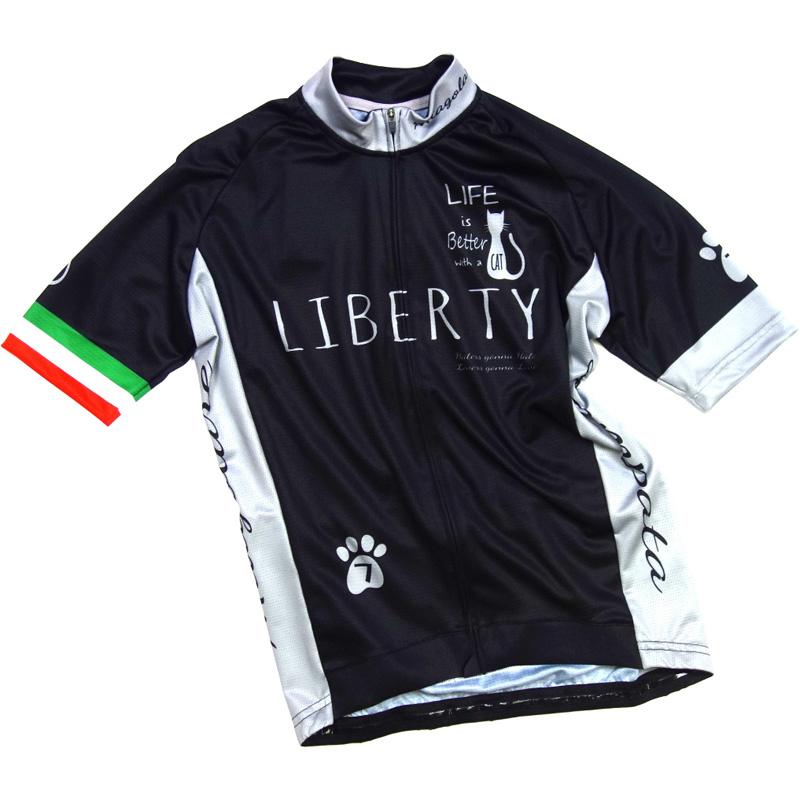 【現品特価】セブンイタリア Liberty Cat Jersey ブラック 0724