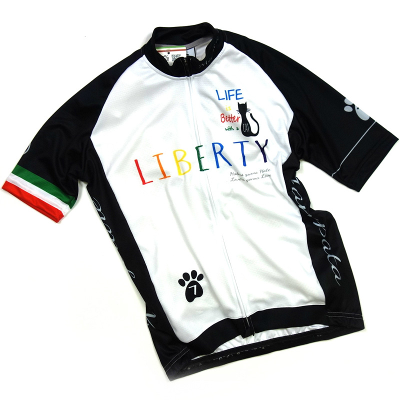 セブンイタリア Liberty Cat Jersey ホワイト/ブラック