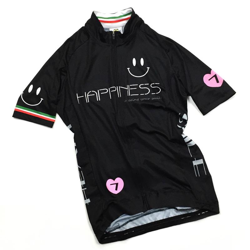 セブンイタリア Neo Happiness Smile レディース Jersey ブラック