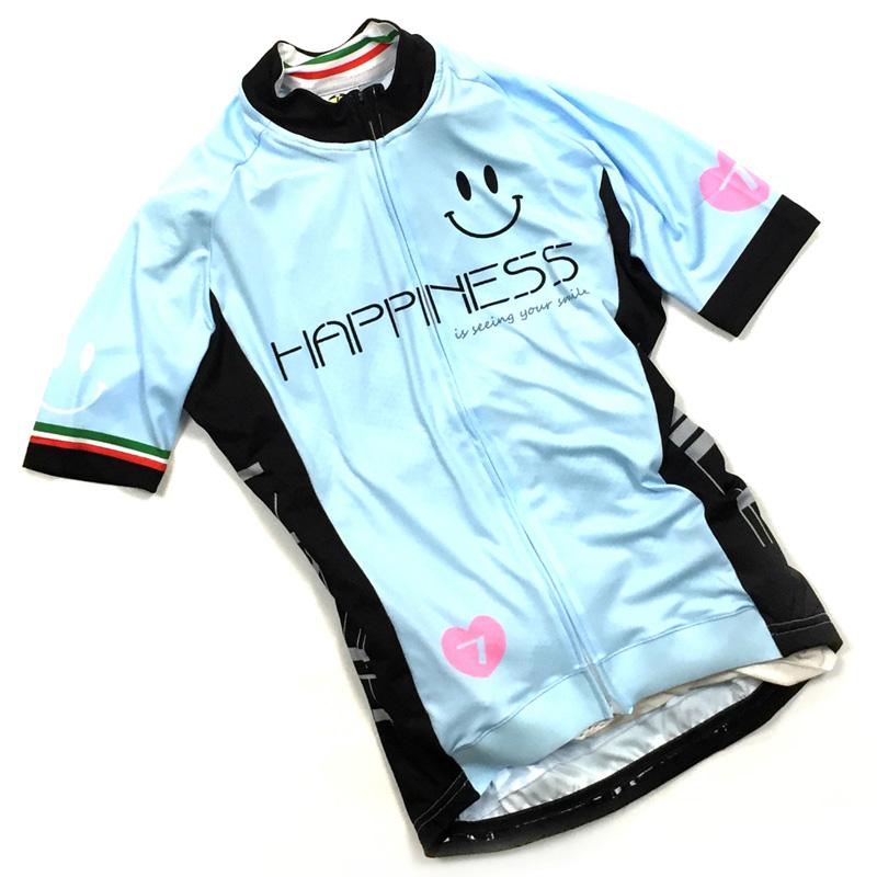 【現品特価】セブンイタリア Neo Happiness Smile レディース Jersey スカイブルー