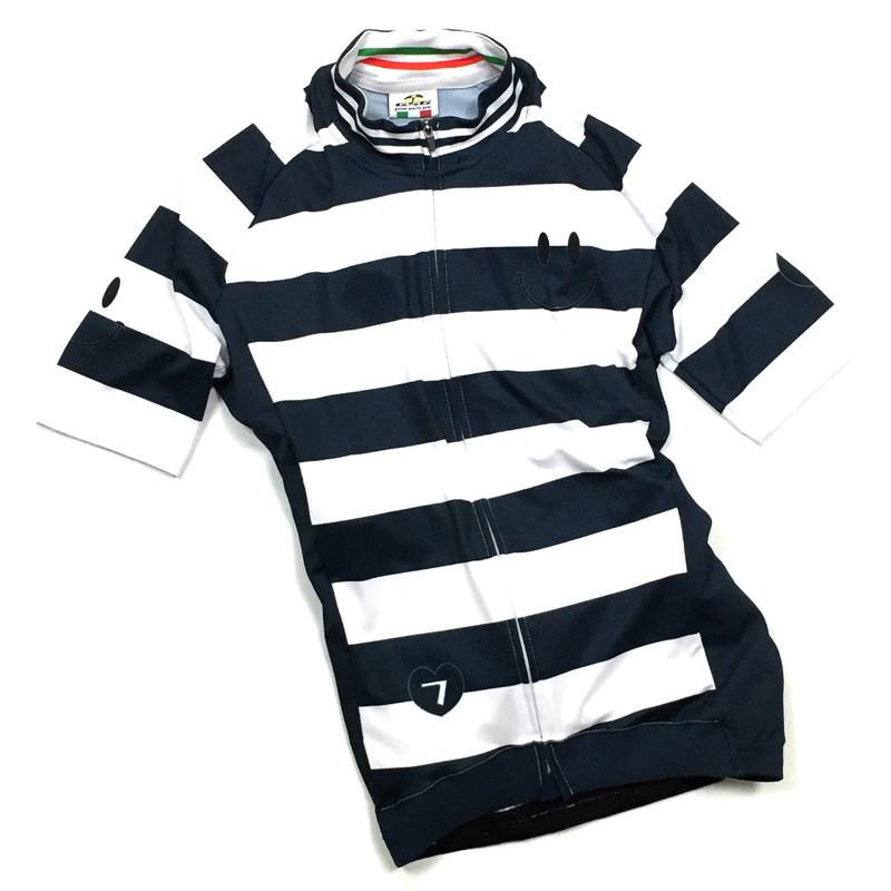 セブンイタリア Smile Stripe レディース Jersey ホワイト/ネイビー