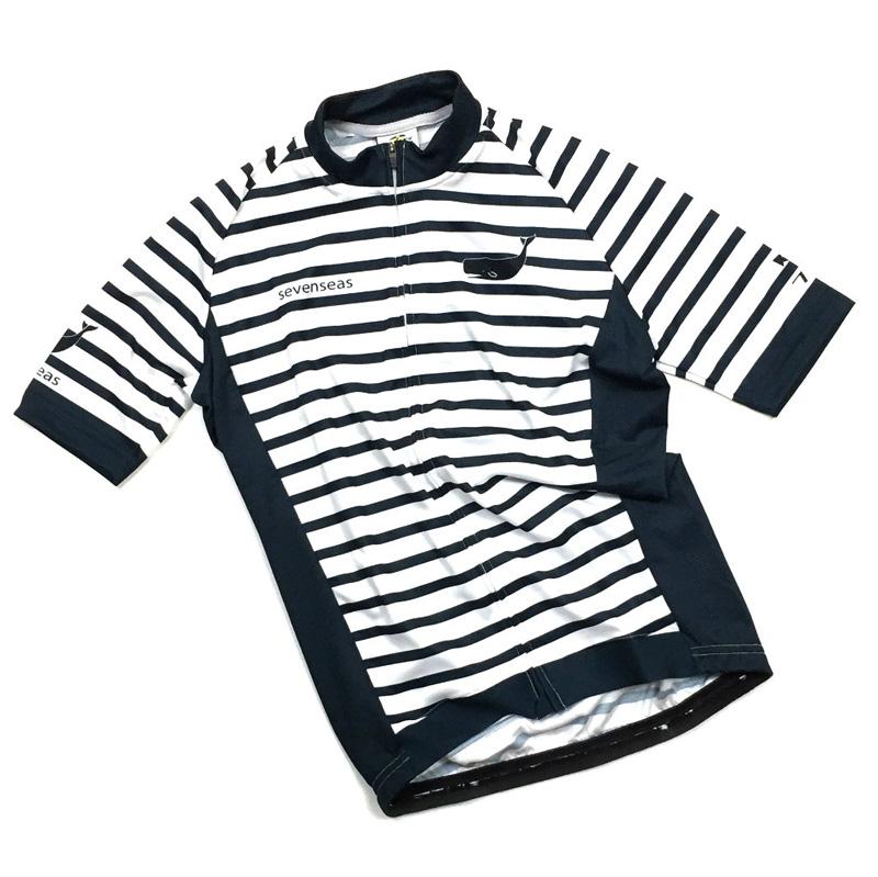 セブンイタリア Seven Seas Stripe Jersey ホワイト/ネイビー