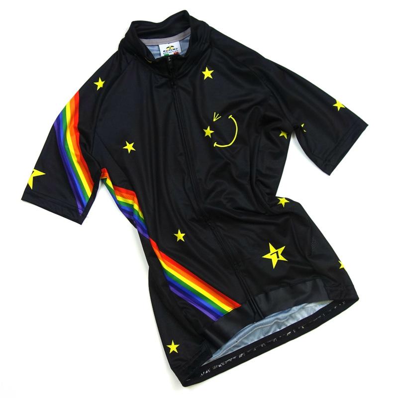 セブンイタリア Star Smile レディース Jersey ブラック