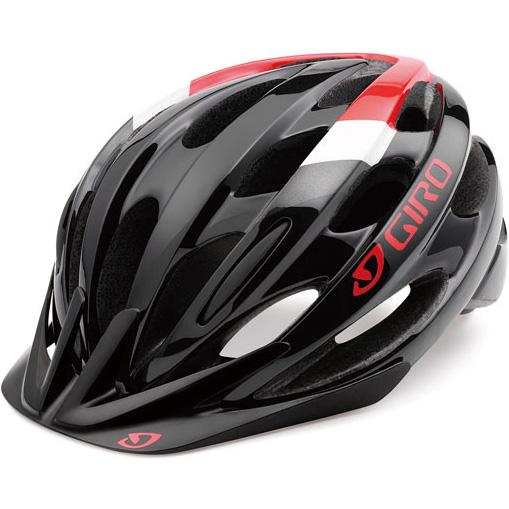 ジロ REVEL ワイドフィット ブラック/ブライトレッド ヘルメット
