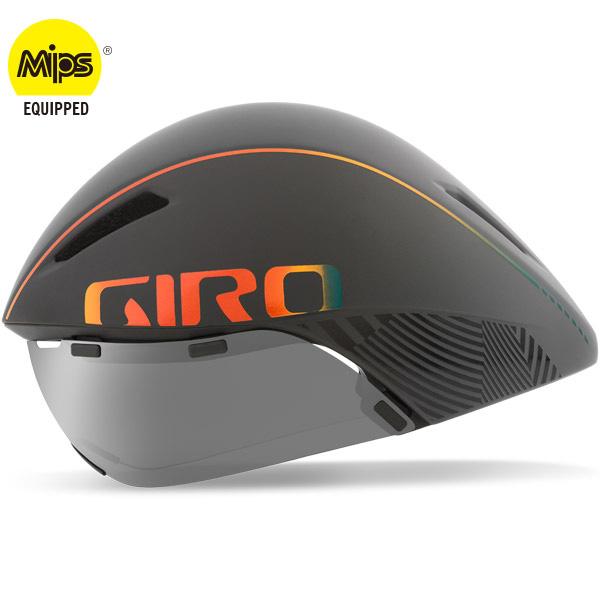 ジロ AEROHEAD MIPS マットグレー/ファイヤークローム ヘルメット