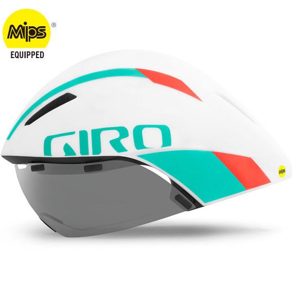 ジロ AEROHEAD MIPS マットホワイト/ターコイズ/バーミリオン ヘルメット