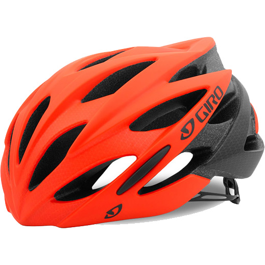 ジロ SAVANT ワイドフィット マットバーミリオン/フレイムフェード ヘルメット