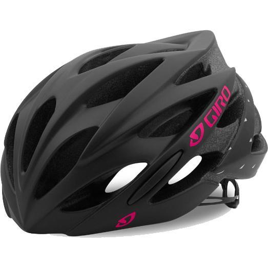 【特急】ジロ SONNET レディース マットブラック/ブライトピンク ヘルメット