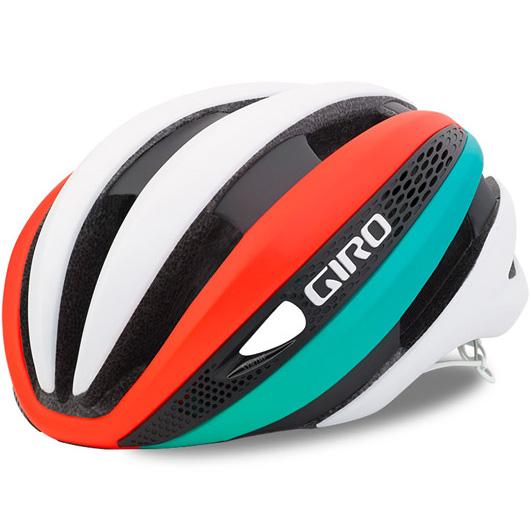 ジロ SYNTHE マットホワイト/ターコイズ/バーミリオン ヘルメット