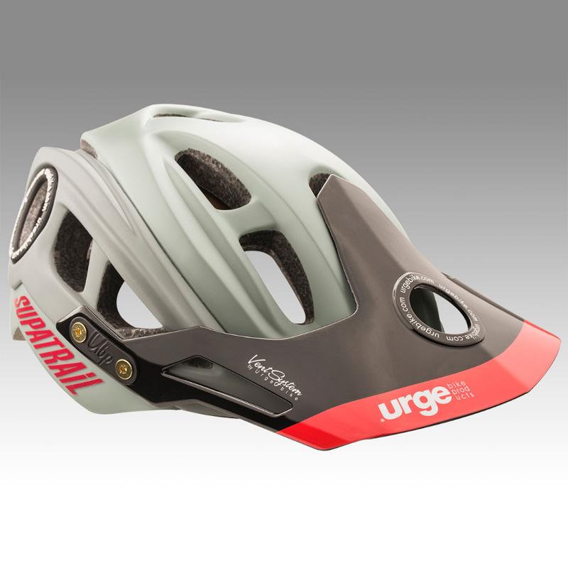 アージュ SupAtrail(スパトレイル) ブラックハードバイザー付 セージ ヘルメット