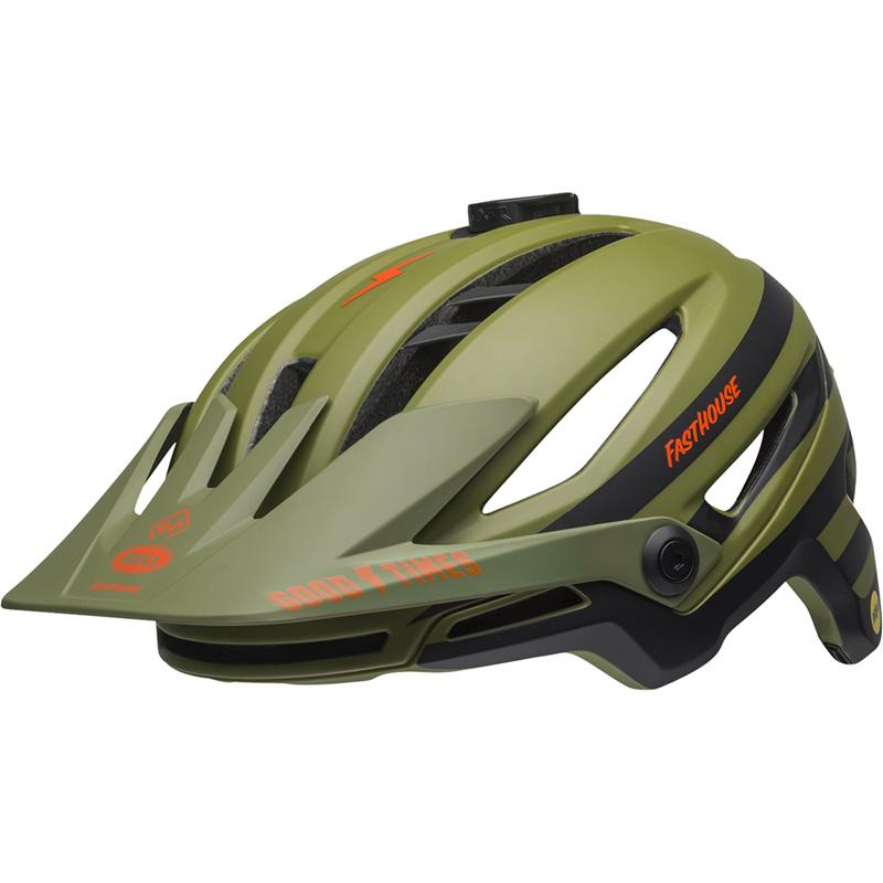 ベル シクサー MIPS ファストハウス マットグリーンオレンジ ヘルメット
