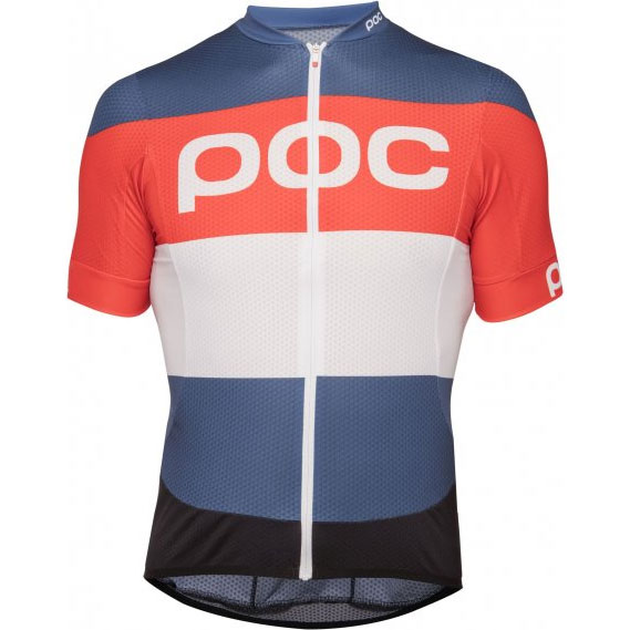 POC Essential Road LOGO Jersey Red